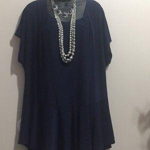 Perseption women blue blouse